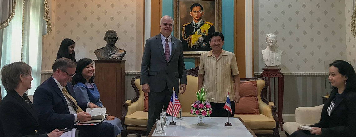 Charge d'Affaires Peter Haymond visited Phuket