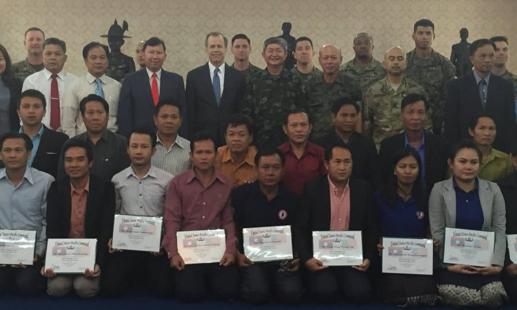 Graduation Ceremony for Trilat. Humanitarian Mine Action Training