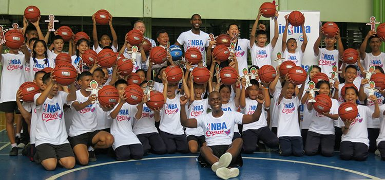 NBA Cares Basketball Clinic at Wat Chaimongkol School