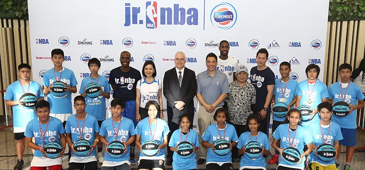 Deputy Chief of Mission Peter Haymond attended the closing event of this year's Jr. NBA youth basketball development program on July 17 at Future Park Rangsit Mall