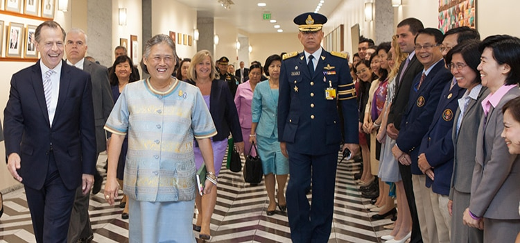 U S Emby Bangkok Welcomed Her Royal Highness Princess Sirindhorn And A Group Of Military Cadets From