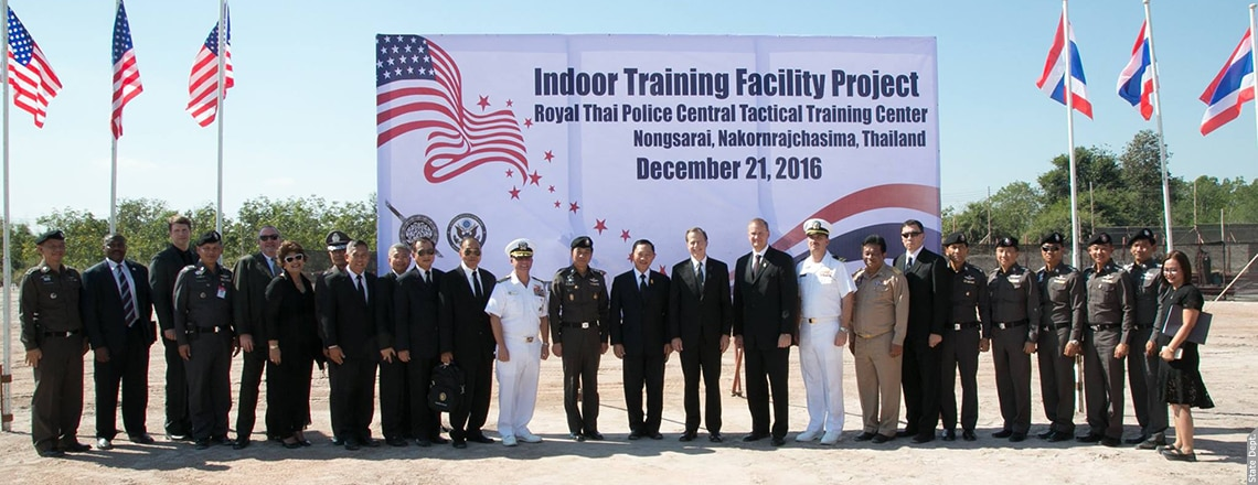Ground Breaking Ceremony of Construction of Indoor Training Facility