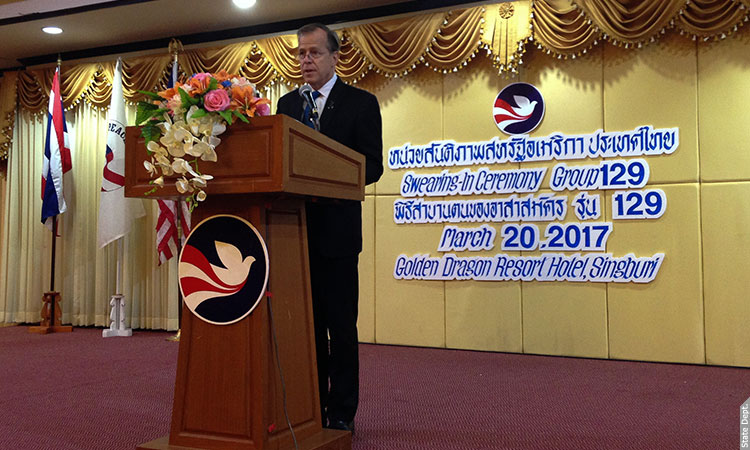 2017 Swearing-In Ceremony for Peace Corps Thailand