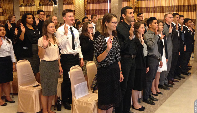 Swearing-In Ceremony for Peace Corps Thailand