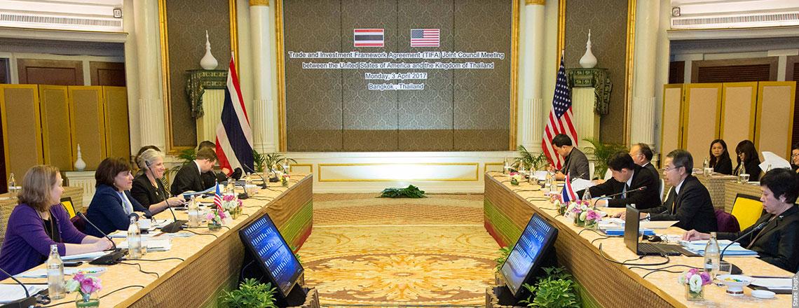 Assistant U.S. Trade Representative (AUSTR) Barbara Weisel in Bangkok